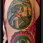 Girl Near Sea Nautical tattoo by Jack Gallowtree