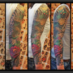 Globe Owl Japanese tattoo sleeve by Jack Gallowtree