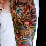 Golden Chain Captain Nautical tattoo sleeve