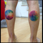 Gradient Rainbow Circles tattoo by Live Two