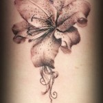 Graphic Flower tattoo by Roony