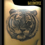 Graphic Tiger tattoo by Jack Gallowtree
