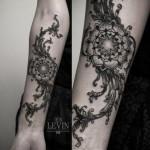 Grass Mandala Dotwork tattoo by Ien Levin