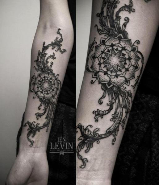 grass mandala dotwork tattoo by ien levin best tattoo ideas gallery. Black Bedroom Furniture Sets. Home Design Ideas