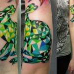 Green Abstract Hare tattoo by Sasha Unisex