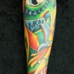 Green Abstraction Eye tattoo by Skin Deep Art