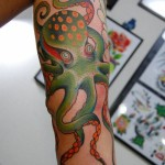 Green Spotted Octopus tattoo by Illsynapse