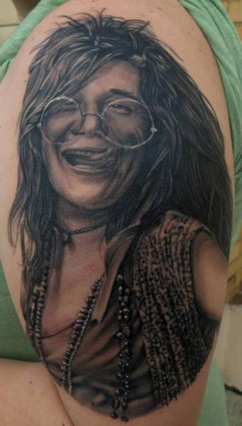 Grey Realistic Hippie Woman by Bloodlines Gallery