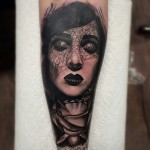 Mourning Veil Girl tattoo by Seth Holmes