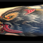 Growling Angry Wolf tattoo by Jack Gallowtree