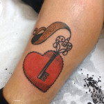 Heart Key tattoo by Elda Bernardes