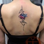 Heart and Circle Space Aquarelle tattoo by Galata Tattoo
