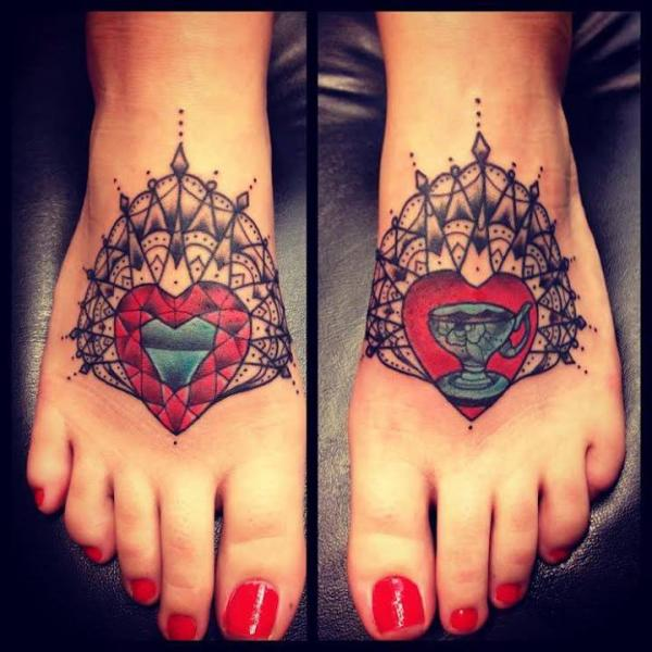Heart and Cup Mandala Shining tattoo by Sarah B Bolen
