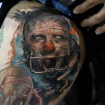 Horror Clown Realistic tattoo by Bloodlines Gallery