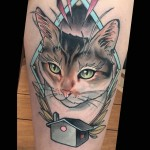 House Cat tattoo by Brian Povak