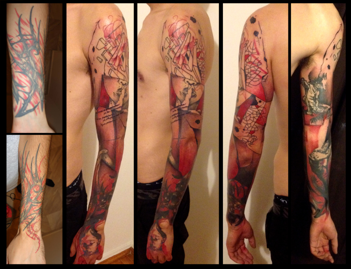 Hush Girl Trash Polka Cover Up tattoo by Live Two