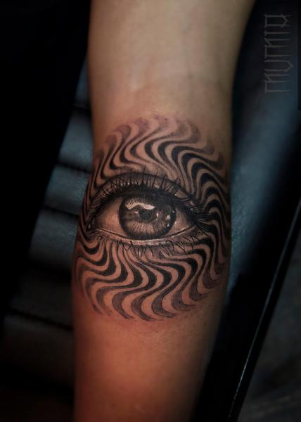 Hypnoze Eye tattoo by Mumia Tattoo