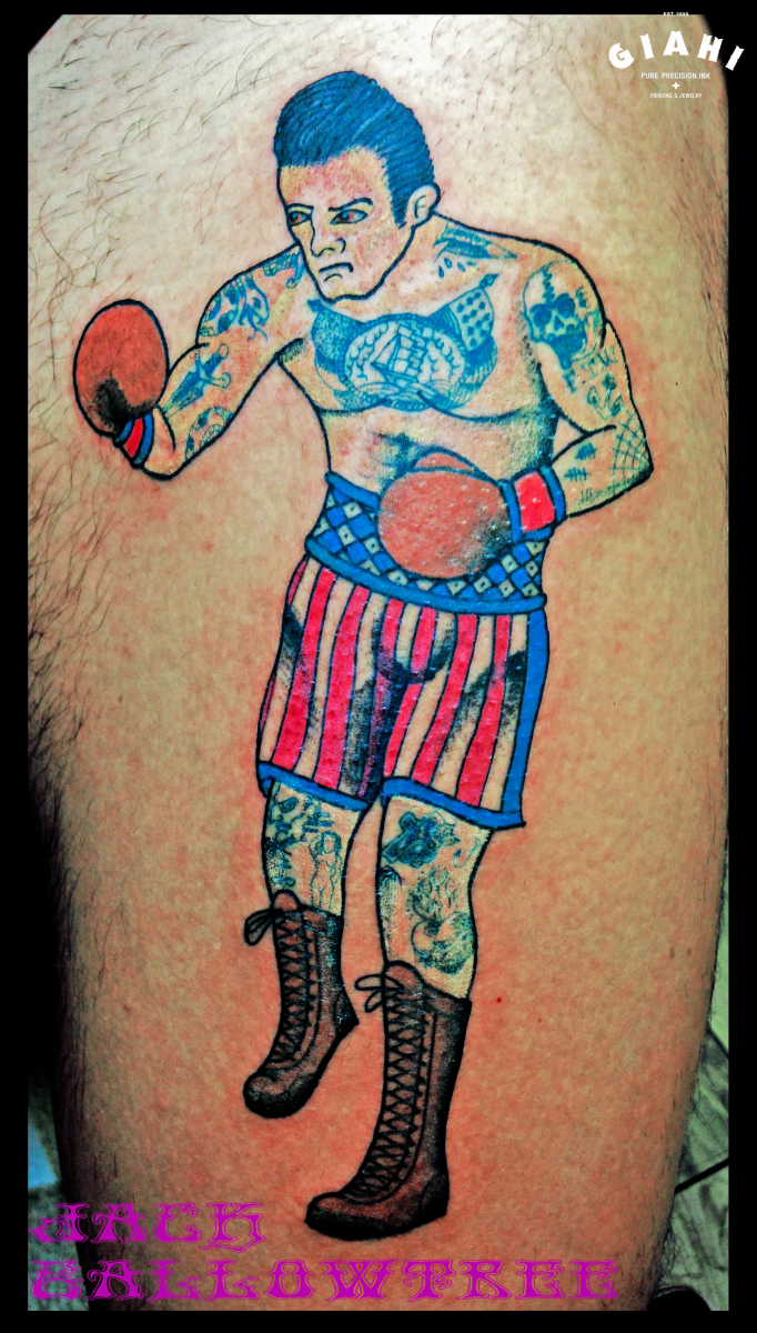 Inked Boxer tattoo by Jack Gallowtree