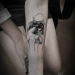 Inside Personalities Dotwork tattoo by Ien Levin