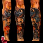 Jack Skellington tattoo sleeve by Piranha Tattoo Supplies