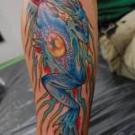 Japanese Blue Frog tattoo by Illsynapse