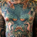 Japanese Dragon Cover Up tattoo by Ryan Scapegoat