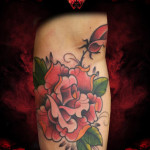 Just Red Rose tattoo by Hellyeah Tattoos