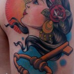 Key Girl Traditional tattoo by Piranha Tattoo Supplies
