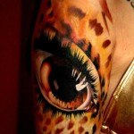 Leopard Realistic Eye tattoo by Piranha Tattoo Supplies