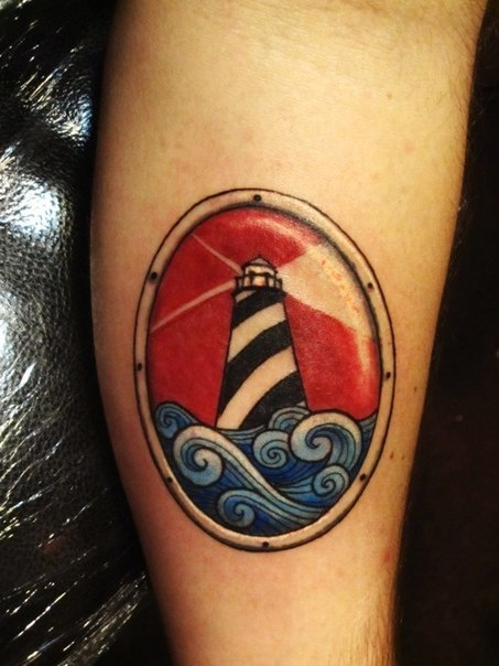 Light House Traditional Nautical tattoo