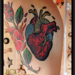 Like Real Heart Old School tattoo by Jack Gallowtree