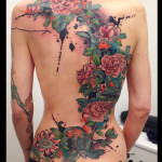Loads of Flowers Back tattoo by Live Two