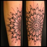 Loops Mandala tattoo by Sarah B Bolen