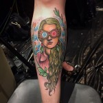 Luna Lovegood tattoo by Jonathan Penchoff