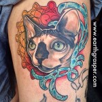 Mandala Framed Cat tattoo by Earth Gasper Tattoo
