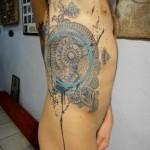 Mandala Whirlpool tattoo by Xoïl