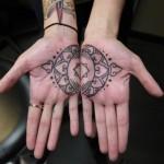 Matching Mehendi Hand tattoo by Earth Gasper Tattoo
