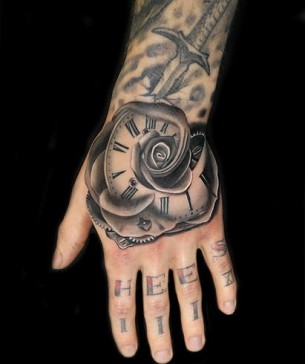 Mating Timeless Rose tattoo by Andres Acosta