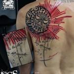Mayan Sun tattoo by George Drone