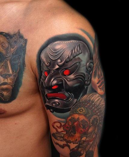 Maori warrior face mask foto bugil bokep 2017 for Face mask tattoo