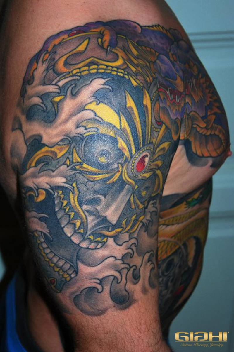 Mexican Skull tattoo by Szilard