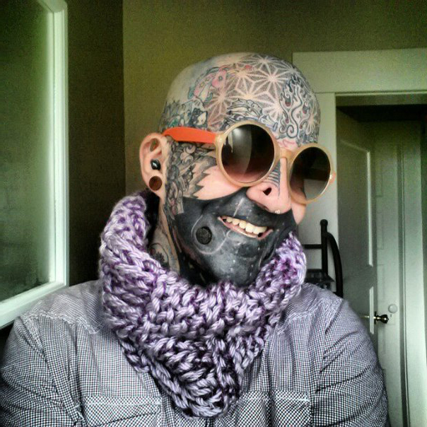 Mouth and Cheeks Blackwork tattoo