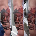 Mustache Old Man tattoo by Piranha Tattoo Supplies