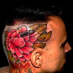 Needle and Flower Head tattoo by Piranha Tattoo Supplies