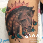 Neighing Horse tattoo by Elda Bernardes