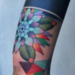 New School and Black Stripe Fusion Blackwork tattoo