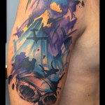 Night Sky Bomber tattoo by Live Two