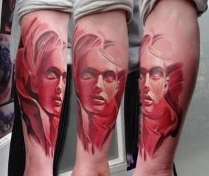No Eyes Girl tattoo by Piranha Tattoo Supplies