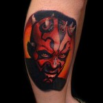 No Hood Darth Maul tattoo by Andres Acosta