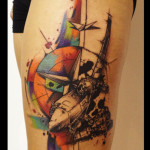 North Star Bomber Trash Polka tattoo by Live Two